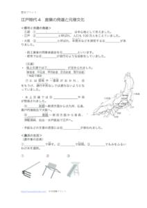 産業の発達と元禄文化